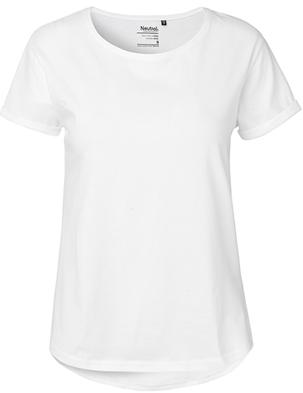 Neutral Roll Up Sleeve t shirt, dame