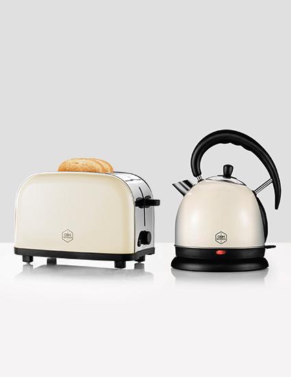 OBH Retro Toaster & Elkedel Gavepakke